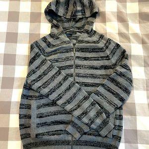 Kenneth Cole Striped Zip Hoodie - Men's M